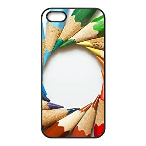 Customized case Of Art Pencil Hard Case for iPhone 5,5S
