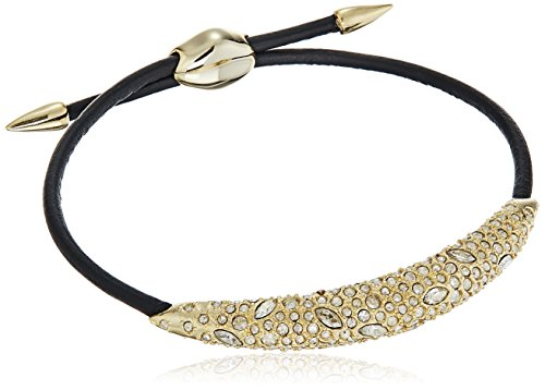 Alexis Bittar Crystal Encrusted Adjustable ID Bracelet