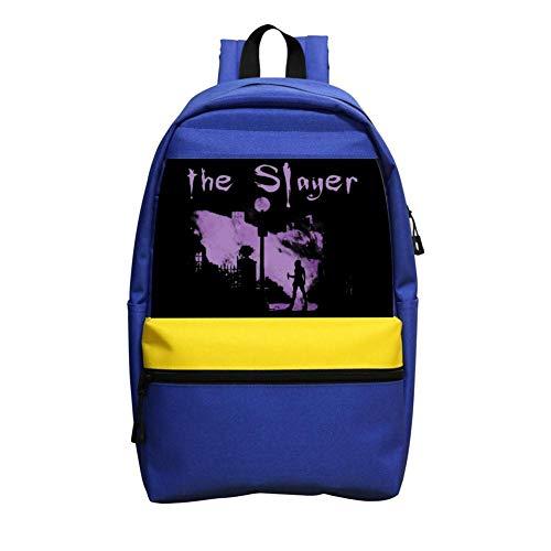 ninisherg The Vamp Slayer Unisex School Backpack for Boys Girls School Book Bags Blue