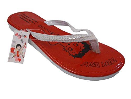 Betty Boop infradito donna paillettes cuoreboop rosso
