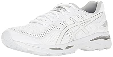 ASICS Men's Gel-Kayano 23 Running Shoe, White/Snow/Silver, 9.5 M US