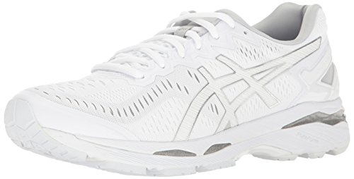 ASICS Men's Gel-Kayano 23 Running Shoe, White/Snow/Silver, 12 M US
