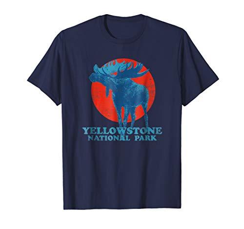 Vintage Yellowstone National Park Retro Moose T-Shirt ()