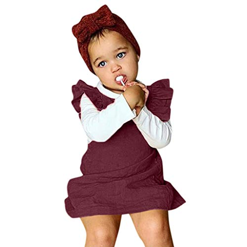 Rompers for Baby Girls Shusuen Bodysuits Cotton Flutter Sleeve One-Piece Summer Casual Outfits Clothes -