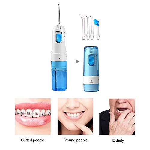 Limpiador de Dientes Portátil Sin Cable Foonee, Chorro de Agua Dental Recargable Profesional para Prótesis y Blanqueamiento de Dientes, ...