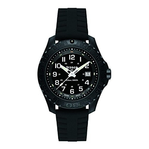 Traser 102904 Men's Professional Type 3 Outdoor Pioneer Black Dial Black Rubber Strap Dive Watch