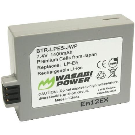 Amazon.com: Wasabi Power – Batería para Canon LP-E5 y Canon ...