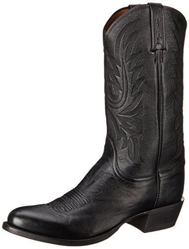 Image of Lucchese Bootmaker Men's Carso-Blk Lonestar Calf Cowboy Riding Boot