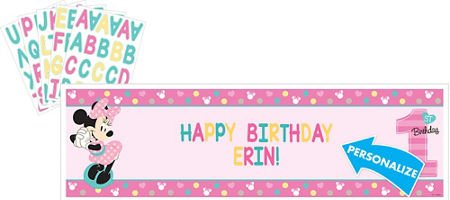 Disney Minnie's Fun to be One Personalized Giant Banner Kit, Birthday]()