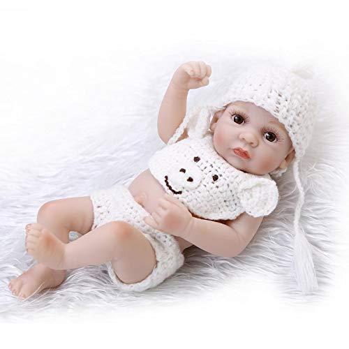 Bambola Reborn Baby Boy Realistic Girl (26cm) Silicone Soft Weighting