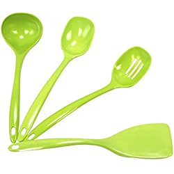 Calypso Basics by Reston Lloyd Melamine Utensil Set, 4-Piece, Lime