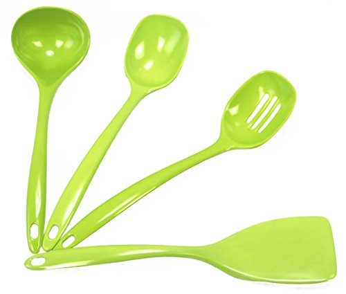 Lime Green Pot - Calypso Basics by Reston Lloyd Melamine Utensil Set, 4-Piece, Lime