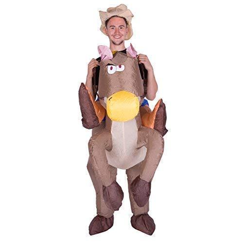 Amazon.com: Bodysocks hinchable vaquero Piggyback caballo ...