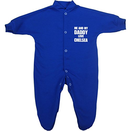 Amazon.com: Me and my Dad Love Chelsea Baby Sleepsuit Babygro Newborn - 9 mths in 9 Colours: Infant And Toddler Sleepsacks: Clothing