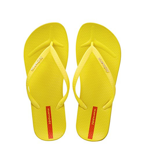 Hotmarzz Chanclas para Mujer Slim Flip Flops Sandalias Verano Playa Piscina Zapatos Amarillo