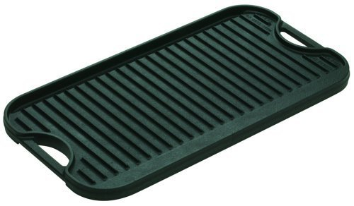 Lodge Logic Pro Cast Iron Grill/Griddle, 10.5'' x 20'' by Lodge