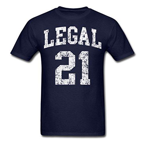 Spreadshirt Birthday Legal 21 Men's T-Shirt, 3XL, Navy ()