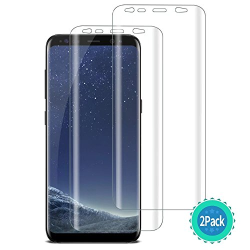 [2 Pack] Tocol For Samsung Galaxy S8 Plus Screen Protector [Case Friendly][Not Glass][Full Coverage][Wet Application] HD TPU Anti-Bubble Film [Lifetime Replacement Warranty]