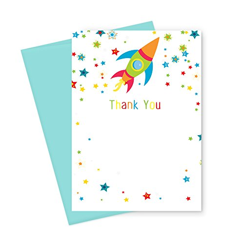 Space Party Thank You Card Stationery Set ( 15 Pack )