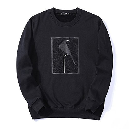 T - Shirt - Hoodies - Winter, Leiter des männer - t - Shirt warme Pullover,schwarz,m