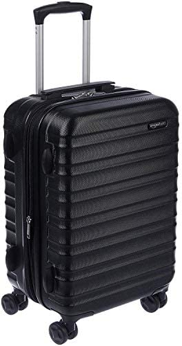 Amazon Basics Hardside Carry-On Spinner Suitcase Luggage - Expandable with Wheels - 21 Inch, Black