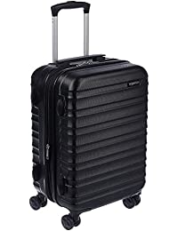 Hardside Carry On Spinner Travel Luggage Suitcase - 21 Inch, Black