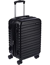 AmazonBasics Hardside Carry On Spinner Travel Luggage Suitcase - 20 Inch, Black