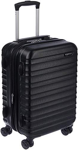 Amazon Basics Hardside Carry-On Spinner Suitcase Luggage – Expandable with Wheels – 21 Inch, Black
