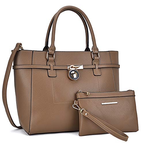 Handbags for Women Tote Bag Shoulder Bag Top Handle Satchel Hobo Purse 2pcs w/Padlock ()