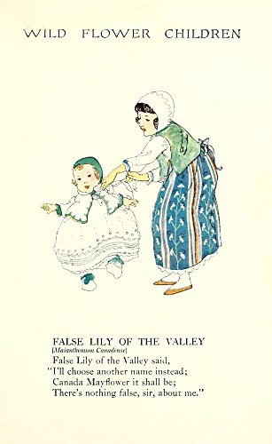 Posterazzi Wild Flower Children c.1918 False Lily of the Valley Poster Print by Janet Laura Scott (18 x 24)
