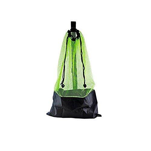 Yellow Mesh Bag Draw String w/ Shoulder Strap