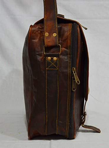 Echt Leder Handarbeit Messenger braun Vintage, Cross-Body-Umhängetasche