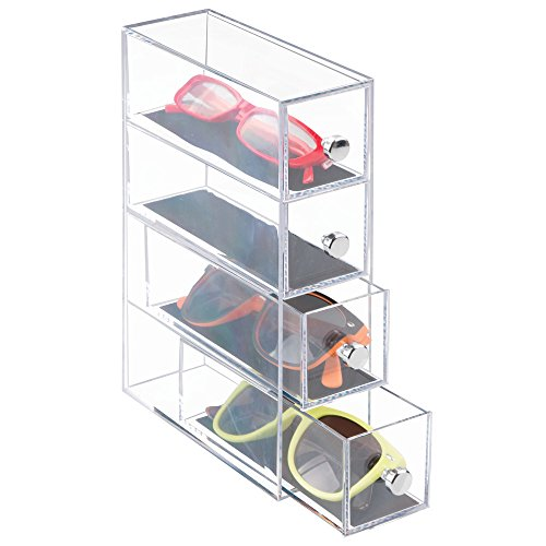 InterDesign Clarity Vanity Jewelry Organizer 4Drawer Tower Clear