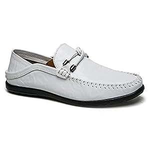 2019 Zapatos para hombre Mocasines Clásico de cuero de microfibra para hombre Ligero, antideslizante,