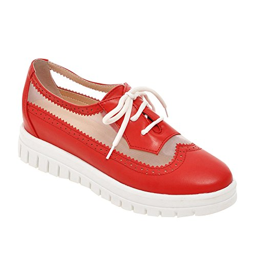 Scarpe Da Donna Texas Lace Up Scarpe Oxford Rosse