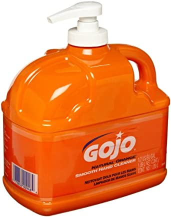 Gojo 0948-06 Low Profile Hand Cleaner, Natural Orange Color, 1/2 Gallon (Case of 6)
