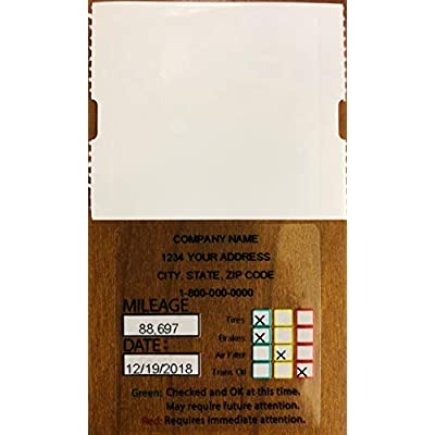 Parts Flix OCS4-200 Style 4 Oil Change Sticker, 200 Pack: Automotive