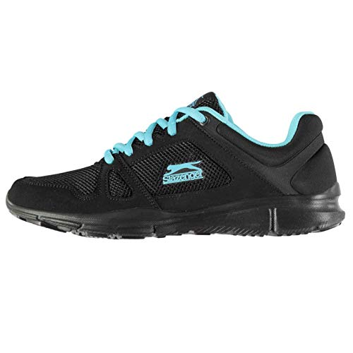 Slazenger Womens Force Mesh Running Shoes Lace Up Memory Lightweight Breathable