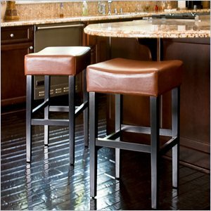 Cheap Noble House Trent Home 30″ Rodriguez Backless Bar Stools in Hazelnut (Set of 2)