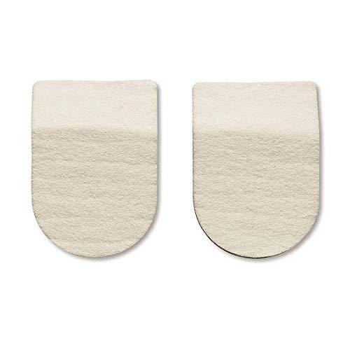 Hapad Heel Pads, 2 Inches Wide/1/2 Inch High - Wool Felt Heel Cushion Pads for Plantar Fasciitis and Other Heel Pain - 1 Pair of Hapad Heel Lifts