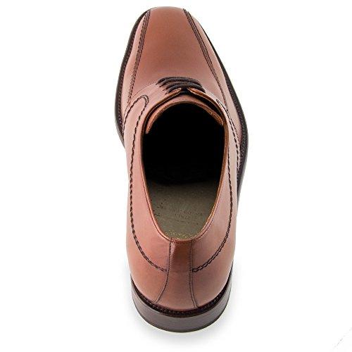 Masaltos Scarpe con Rialzo da Uomo Che Aumentano l'Altezza Fino a 7 cm. Fabbricate in Pelle. Modello Novara Marrone