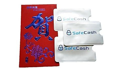 MOTR 3x RFID Blocking Card Holder Sleeves + Regalo Envoltorio. Protege contra robos de identidad, pick electrónico, fraude de crédito y arañazos. - ...