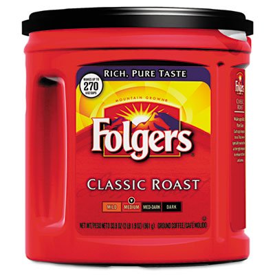 Folgers Coffee Classic Roast Regular Ground 33.9 oz Can by Folgers