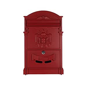 Rottner Ashford - Buzón, diseño inglés con escudo, color rojo