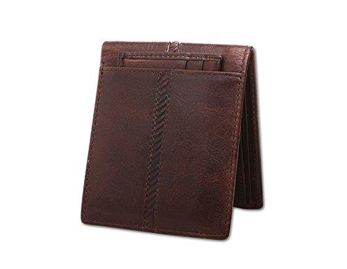 Joyir Men's Crocodile Grain Leather Wallet Long Slim Clutch Purse Black