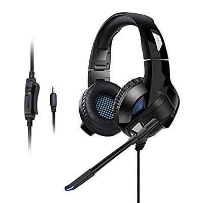 XLon Gaming Headset Over Ear Headphone Stereo Surround Earpiece Noise Isolation Earphones with Mic | Learning Toys