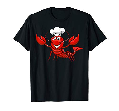 Happy Red Lobster Chef Funny T-Shirt -