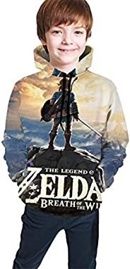 Breath of The Wild Youth Child Hooded Printed Hoodie Sweatshirt Pocket Pullover Sweaters Boys Girls