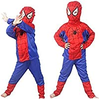 TONY STARK Spiderman Costume for Kids Halloween Cosplay, Small, 2-4 Years (Violet and Red)