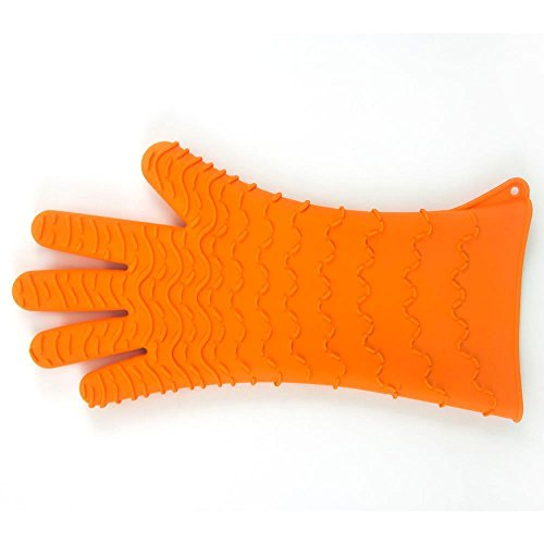 Charcoal Companion Max Heat-Resistant Silicone BBQ/Oven Glove - CC5154 (Best Careers For Living Off The Grid)
